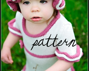 make your own Vintage Petti Dress and Hat (DIGITAL KNITTING PATTERN) baby toddler child sizes 0-8