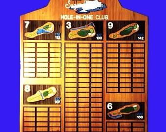 Custom carved perpetual  recognition plaque- Sugar Creek 184 plates