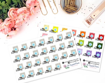 Laundry Planner Stickers (26 Stickers)