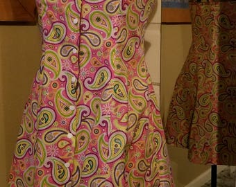 2 Sun Dresses in 1! Reversible size 12