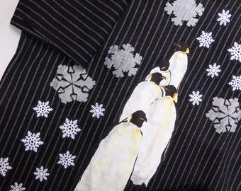 Custom dress - Eskimo, penguins, penguins, snow and snowflakes