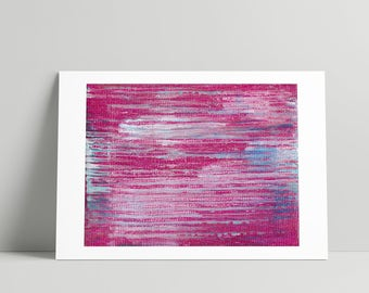Pink Office Decor ~ Pink Wall Art ~ Abstract Acrylic Painting ~ Small Wall Decor ~ Bedroom Wall Decor ~ Girls Bedroom Decor ~ Abstract Print
