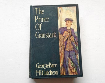 1914 First Edition  The Prince of Gaustrak Vintage Hardcover Book by George Barr McCutcheon