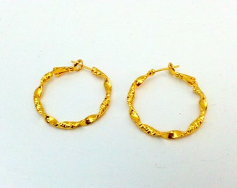 Hoops Earrings Jewelry, 14K Gold_Filled Earrings 2pc