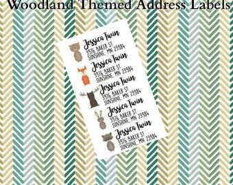 Woodland Animal Return Address Label