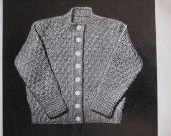 Vintage Baby and Toddler Knitting Patterns Cardigan Sweater PDF Pattern 50B-11