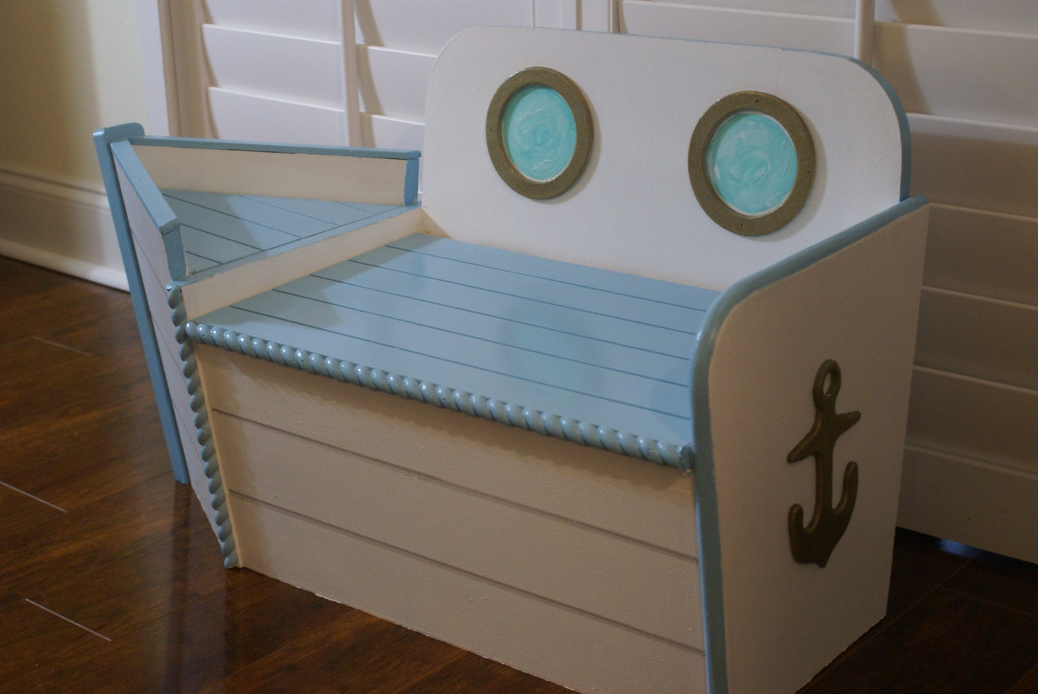 Kids Boat Toy Chest