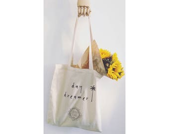 Day Dreamer Lucky Stars Cotton Tote Bag //Cotton Tote //Cotton shopper //Tote shopper //Cotton bag //Shopping bag