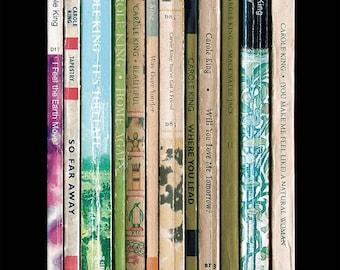Carole King Tapestry Album As Books Poster Print, Music Poster, Literary Home Decor, Penguin Books, Music Art, Paperback Cover