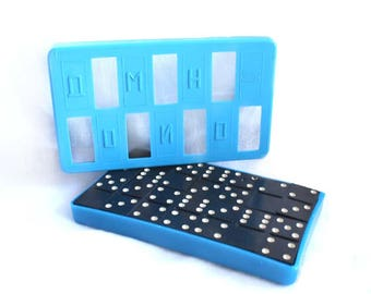 Complete Boxed Set of Dominoes. Unused. Vintage Russian Vintage Table Game of Dominos. Tile Game