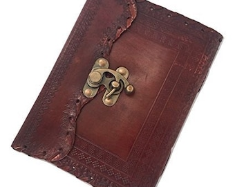 Handmade Goat Leather Journal Brown Notebook, Diary, Travel, Has Clasp