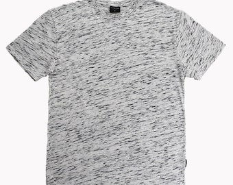 Men's United Face Classic Fit Short Sleeve Crew Neck Space Dye T-Shirt - White, S~XXL