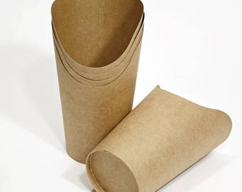 Wrap Cups (10) *  snack trays * party supplies* paper goods * packaging * picnics * disposables
