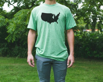 ILLINOIS is a State Men's Tshirt / Illinois Map Shirt / Illinois Pride / Illinois Native / Illinois Home State / Chicago Pride / State Shirt