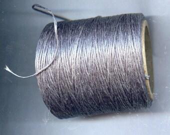Gray Waxed Cord Thread 5 yards