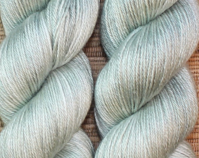 Hand dyed yarn - 'Sea Foam' - dyed to order on your choice of base yarn.