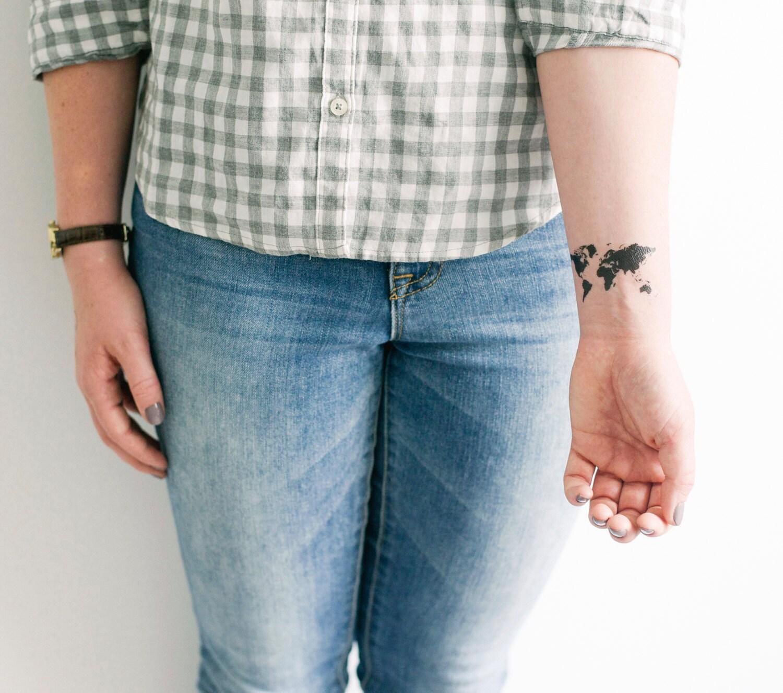 2 world map temporary tattoos smashtat gumiabroncs Choice Image