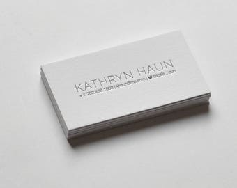 100 Custom Letterpress Business Cards