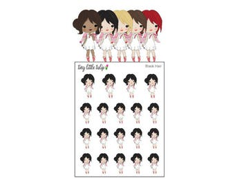 Planner Stickers Valentine Girl w/ Cupid's Bow