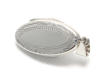 Tapered oval 925 Sterling Silver Medallion