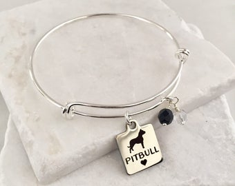 Pit Bull Bracelet, Pit Bull Jewelry, Pit Bull Gifts, Dog Lover Gifts, Dog Lover Bracelet, Rescue Dogs, Dog Lover Jewelry, Dog Bracelet