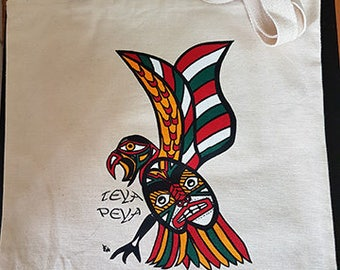 Native, Red, Hawk, Cotton, Carry-All, Tote