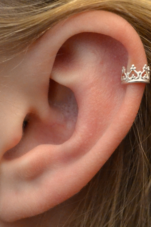 Crown ear cuff ear wrap silver ear cuff non pierced zoom baditri Choice Image