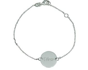 Personalized Sterling Silver children bracelet