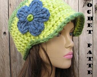 Crochet Pattern, Newsboy Hat - Crochet Pattern PDF,Easy, Great for Beginners,  Pattern No. 29