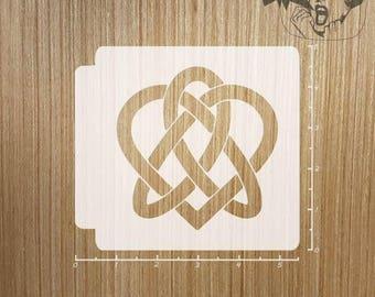 Celtic Knot Heart 783-273 Stencil