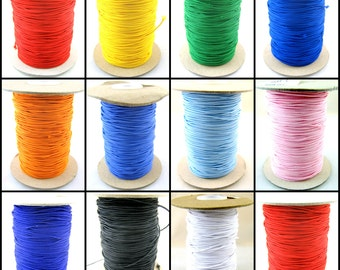 1mm Round Cord Elastic Assorted Colours