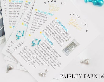 SALE! Mini Facial Cards | skincare, 2 sided, business card, printed, R+F, marketing, business card, consultant, pc, personalized, R+F
