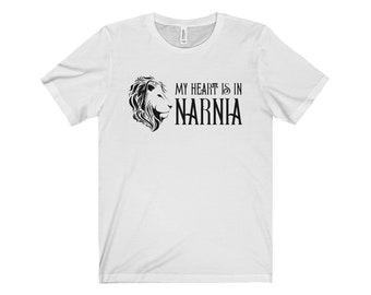 My Heart Is In Narnia - Aslan Lion Unisex T-Shirt - The Chronicles Of Narnia - Fandom