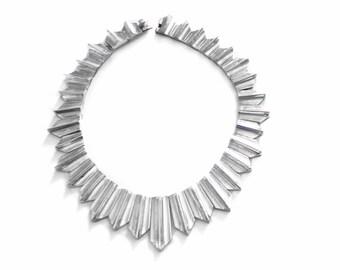 Antonio Pineda Zig Zag Necklace - MCM Taxco Mexico - Mexican 970 Sterling Silver - Vintage Modernist - 500 grams - Hallmarked Pineda