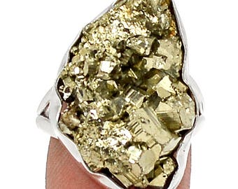 Peruvian Golden Pyrite nugget size 7.5 Ring