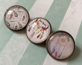 Boho hand made set of 3 badges