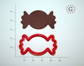 Round Wrapped Candy Cookie Cutter-3 Different Size Options