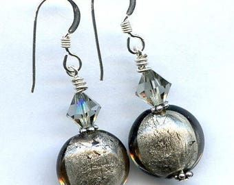 Pewter Perfection Sterling Silver Earrings