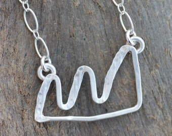 Handmade Sterling Silver Mountain Range Necklace Inspired by the Boulder Flatirons