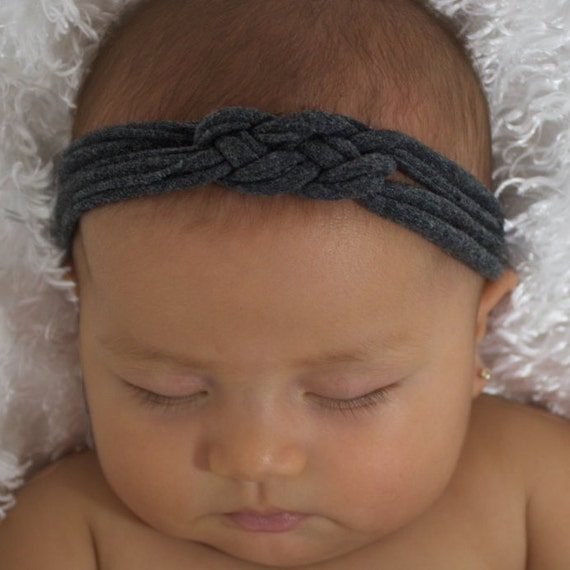 Knot Headband, Baby Knot Headband, Gray Headband, Newborn Headband, Baby Turban, Gray Headband, Celtic Knot Headband, Gray Knot Headband