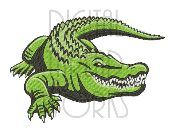 Items similar to Applique Alligator Embroidery Design 2 ...  |Alligator Design Embroidery Floss