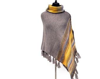 Winter Wool Poncho | Crochet Poncho | Women Ponchos | Wool poncho | Hand Knitted Poncho For Women | Boho clothing | Winter Poncho for Women