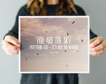 You are the Sky - Word Art Print - Sailing Quote - Ocean Photography
