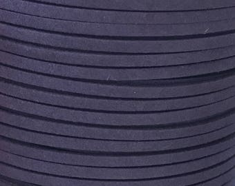 Navy Blue Faux Suede Cord - 5m