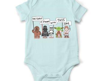 Star wars baby onesie, funny baby onesie, jedi baby shirt, star wars baby shower gift, Yoda baby bodysuit, Wookie onesie, Star wars gift