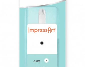 Dot Metal Design Stamp ImpressArt- .5mm Design Stamp-Steel Stamps-Metal Supply Chick