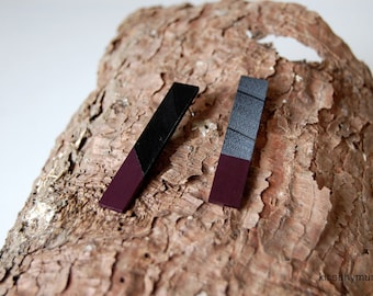 Vinyl Record Earrings | Redesigned Stud Jewellery | Geometric