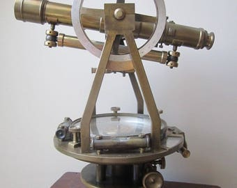 Splendid 1890's W & L. E. Gurley Theodolite Transit and Tripod with Measuring Stick