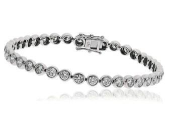 1.00ct Diamond Tennis Bracelet in 9CT White Gold