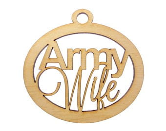 Army Wife Ornament - Army Ornaments - Army Wife Gifts - Army Wife Gift -  Military Ornament - Personalized